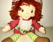vintage 1995 Kenner American Greetings corp. Strawberry Shortcake rag doll plush  RAD
