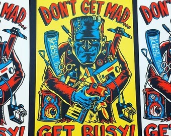 Get Busy! Screen print