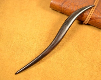Curved Ebony Wooden Hair Stick