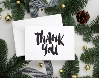 THANK YOU / thank you notecards / Set of 10 - thank you note set / thank you notes / thank you stationery /thank you cards / Size 3.5 x 5.5