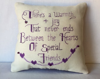 Friendship pillow home decor decorative pillow gift for friend for Christmas or a birthday novelty pillow