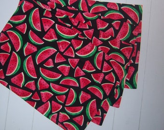 Set of Four Quilted Watermelon Placemats