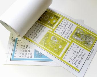ON SALE - 2017 zodiac calendar - 4 page full color print