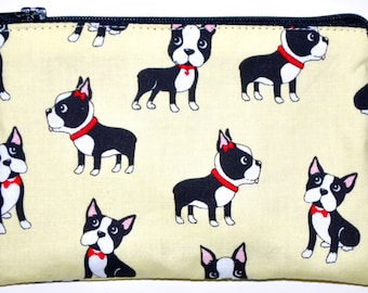 Boston Terrier Coin Purse Zipper Pouch Wallet ID Card Holder Zippered Pouch Change Purse Gift Idea