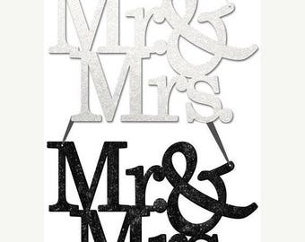 15% OFF 11.75 Inch Mr. & Mrs. Word Sign MS715999 (2 Colors)