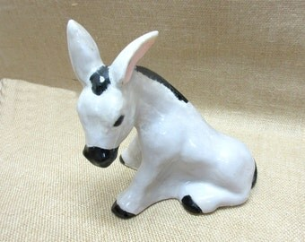 Vintage Ceramic Donkey Figurine