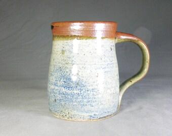 Rustic 16 oz Coffee Cup.  Large Mug.  Stoneware Cup.  Wheel thrown mug.