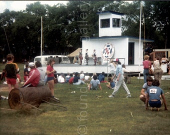 Crowd Watching Highland Dancers, Canada, Vintage Photo, Color Photo, Old Photo, Found Photo, Travel Photo, Snapshot
