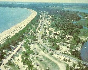Outlet Beach Sandbanks Provincial Park Prince Edward County Unused Vintage Postcard Aerial View