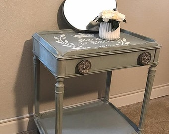 French Farmhouse End Table