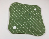"Cloth Panty Liner 8"" Green Arrows"
