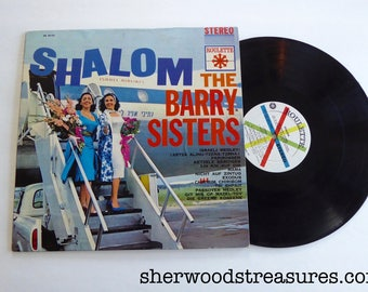 SHALOM Vintage Vinyl lp  The Barry Sisters Roulette Label Record 1961