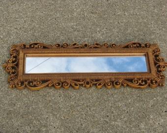 homco faux rattan mirror dart mirror 1970s decor bohemian boho hippie