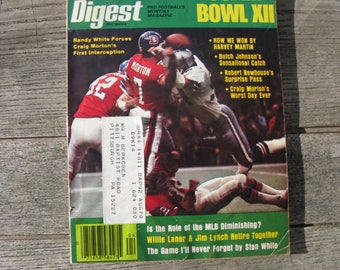football digest april 1978 Super Bowl XXI 1970s football man cave collectible