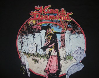 Vintage KING DIAMOND Of Merciful Fate 1989 1990 Heavy Metal Concert Tour T Shirt L