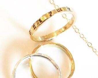 Handstamped  Silver Ring- Armenian or English- Armenian Ring