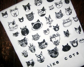 I LIKE CATS Kitchen Towel