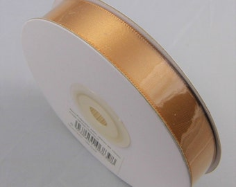 25 mt Reel Gold Satin Ribbon, Old Gold Ribbon, 15mm Satin Ribbon, Double Satin Ribbon, Ribbon Supplies,  Wedding supplies Gold Wedding Ideas