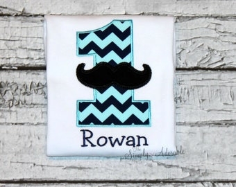 Boy's Mustache Birthday Shirt, Little Man Birthday, Mustache Birthday, Personalized Mustache Shirt, First Birthday