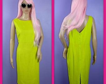 Vintage Lime Green Shift Dress