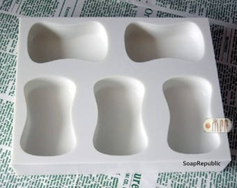 SoapRepublic Hourglass Shape / 5 in 1 / Silicone Soap Mold