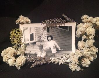 Vintage Photo - Asian Girl  - Teenager - 1945 - Snapshot - Vernacular Photo - Antique Photo