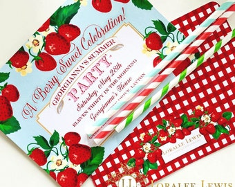 Berry Sweet Invitations by Loralee Lewis