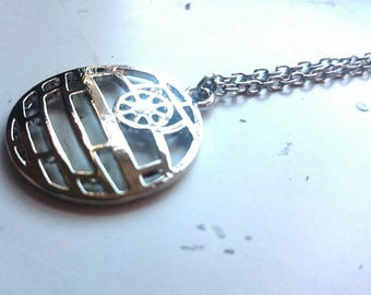Death Star Star Wars Inspired Charm Necklace