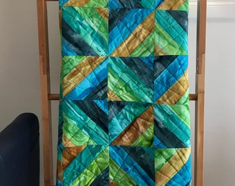 Baby Lap Blanket 'Earth' Quilt