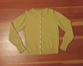 1950s Peter Scott cashmere cardigan light mustard yellow cashmere sweater scottish cashmere vintage cashmere scotland cardigan