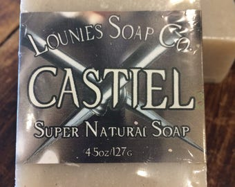 Castiel Soap  | Scented Soap | Supernatural | Handmade Soap | Soap Gift | Handmade Gift Idea | Bar Soap Gift | Budget Gift | Wholesale | Cas