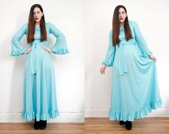 Vintage Angel Sleeve Bohemian Cape Kimono Kaftan Sleeve Maxi Dress