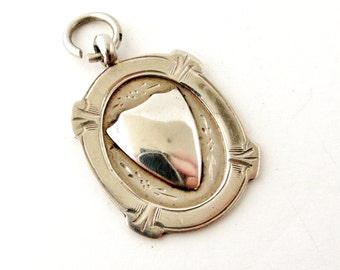 English sterling silver heavy watch fob for Albert chain