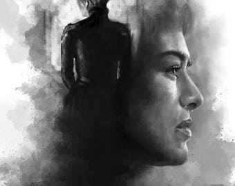 Game of Thrones - Cercei Lannister, got art, game of thrones art, game of thrones poster, Lena Headey, Baratheon, mad queen