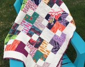 Throw Size Quilt - Hand Quilted - Anna Maria Horner Swell