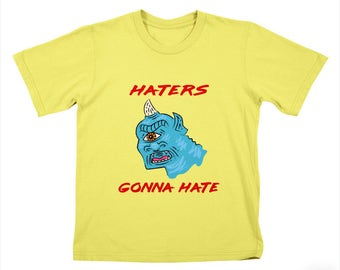 HATERS GONNA HATE - Childrens T-shirt / Tee / Kids / Youth - Cyclops - Lemon Yellow by Oliver Lake - iOTA iLLUSTRATION