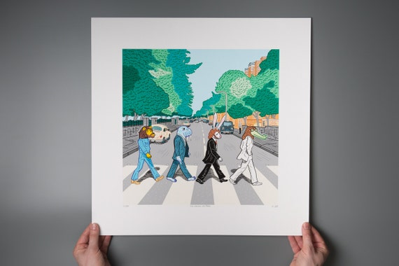 The Walrus Was Paul - The Beatles - Abbey Road inspired - Giclée art poster print by Oliver Lake