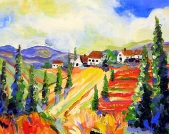 Daisy Landscape original painting 18 x 24 Fine art by Elaine Cory