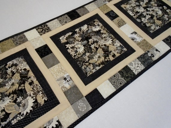Modern Quilted Table Runner Urban Quilted Table Topper
