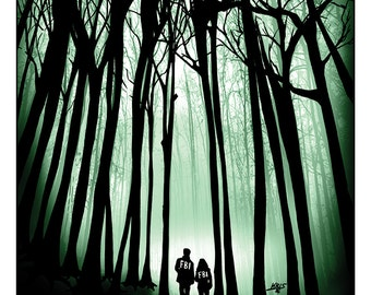 X-Files Movie Poster - Artwork - Movie Illustration Series