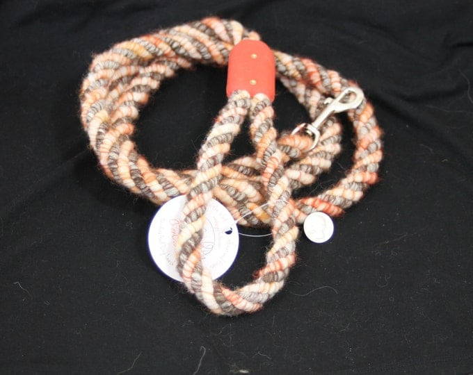 Dog Leash- Handcrafted- Alpaca-Wool and other natural Fibers - DL-05