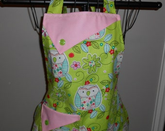 Pastels Owls and Polka Dots Women's Apron