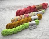 YARN DESTASH: Hedgehog Fibres and Primrose Yarn Co. Mini Skeins