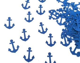 100 Blue Anchor Confetti