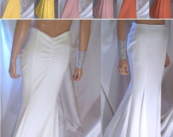 Women's Maxi Skirt, Mermaid Maxi Skirt, Mermaid Trumpet Skirt, White Mermaid Maxi Skirt, Sexy Skirt, Prom Skirt, Bride Skirt, Maxi Skirt