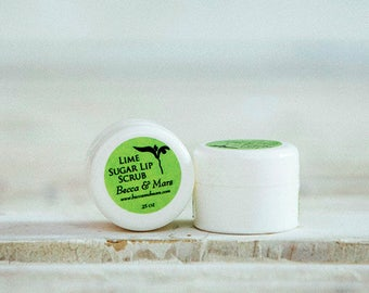 Lip Scrub - Lime Sugar Lip Scrub - Lip Exfoliator