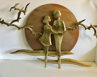 Rare Mid Century Bijan Signed Brass Sculpture