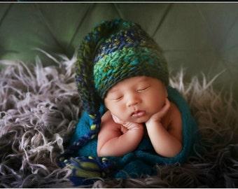 Newborn Photo Prop Baby Boy Elf Hat
