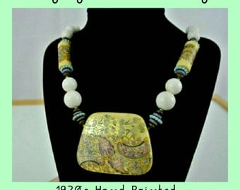 70s Boho Beaded Necklace
