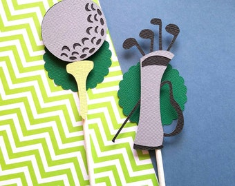 Golf Cupcake Toppers - Golf Theme Party - Golf First Birthday - Golf Party Decorations - Golf Retirement Party - Golf Topper - Golf Birthday